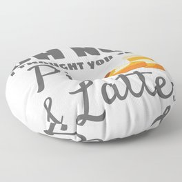 Pilates Instructor Gift Pilates Thought You Said Pie Lattes Gift Floor Pillow