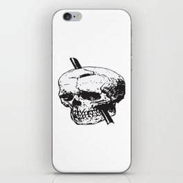 Frontal Lobotomy Skull Of Phineas Gage Vector Isolated iPhone Skin