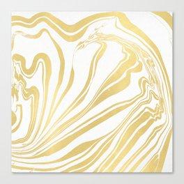 Bronze Copper Gold Rush Marble Ink Swirl Canvas Print