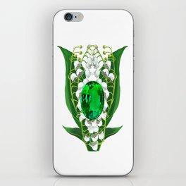 Birth Stone & Flower Print/MAY iPhone Skin