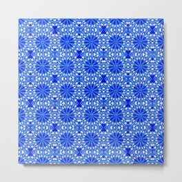 Sapphire Blue Star Metal Print