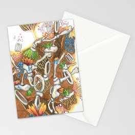 Underneath, are gardens too (brown) Stationery Cards