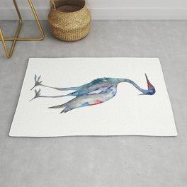 Crane #1 - Ink painting Rug