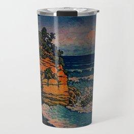 Bathing in Sunset Travel Mug