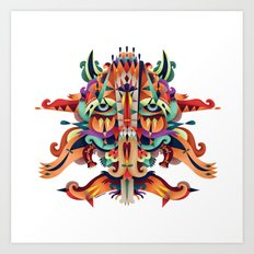 XL Mask Art Print