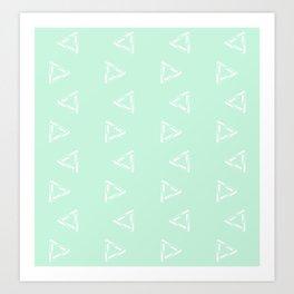 Impossible Triangles - Mint Art Print