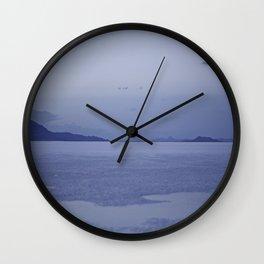 Utah Salt Flats Wall Clock