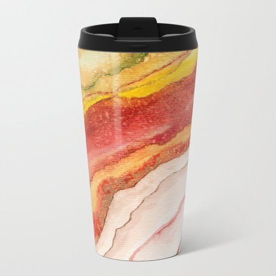 AGATE Inspired Watercolor Abstract 03 Metal Travel Mug