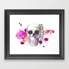 Braided Skull Framed Art Print