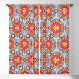 Arabian Geometric Pattern with vibrant colors Blackout Curtain