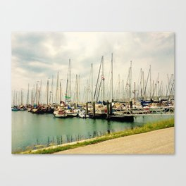 Terschelling Boats at Rest Canvas Print
