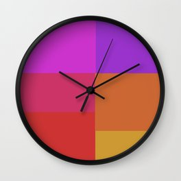 Fluro color squares Wall Clock