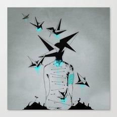 Origami's dream - A collaboration between Christelle Guilhen and Gwenola de Muralt - Canvas Print