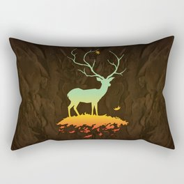 Fawn and Flora Rectangular Pillow