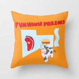 House of mirrors Throw Pillow