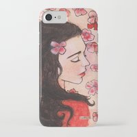 snow white iPhone & iPod Cases featuring Snow White by Sarah Larguier