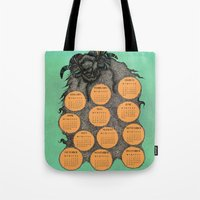 calendar 2015 Tote Bags featuring Sheep Calendar 2015 by Julia Kisselmann