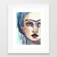jane davenport Framed Art Prints featuring Frida Forever by Jane Davenport by Jane Davenport