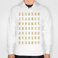 sci fi Hoodies featuring Sci-Fi Glyphs by Lestaret