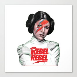 Princess Leia Rebel Canvas Print