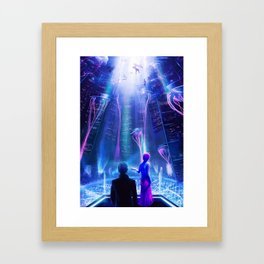 Ready Player One inspired | Painting Poster | CLUB SCENE | PRINTS | #M47 Framed Art Print