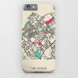 Colorful City Maps: The Hague, Netherlands iPhone Case