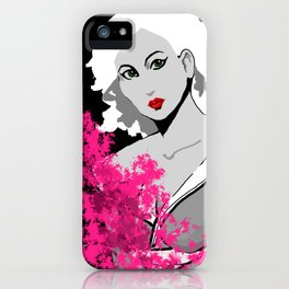 lady with flowers iPhone Case