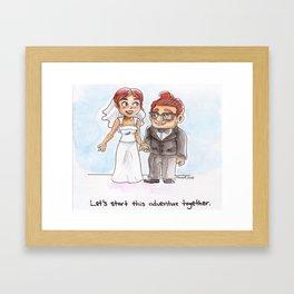 Let's start this adventure together Framed Art Print