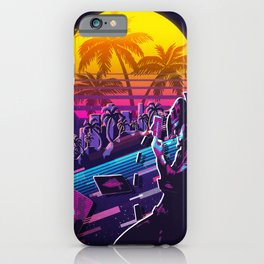 twisted fate league of legends game 80s palm iPhone Case
