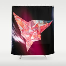 3 Point Crystal Shower Curtain