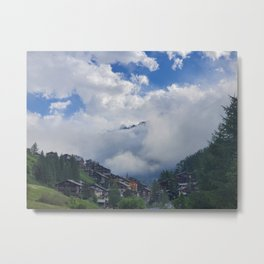 The Alps Breaking through the Morning Fog Metal Print