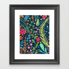 les prairies (navy) Framed Art Print