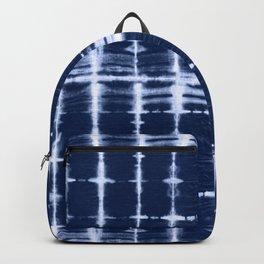 Shibori itajime indigo square  Backpack
