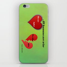 All humans are ... iPhone Skin