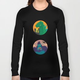 More Godzilla, Less King Kong Long Sleeve T-shirt