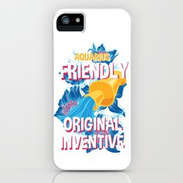 Aquarius Zodiac Horoscope Squid Spirit Animal iPhone Case