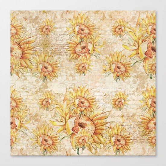 Vintage Sunflowers #5 Canvas Print