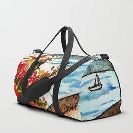Santorini in a Nutshell Duffle Bag
