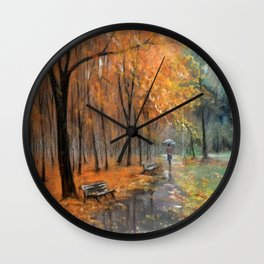 Autumn in the park # 2 Wall Clock