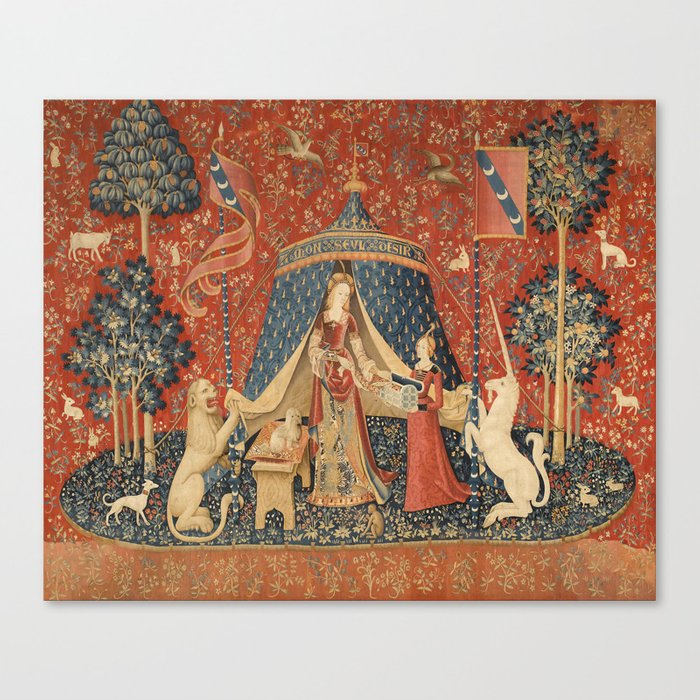 The Lady And The Unicorn Leinwanddruck