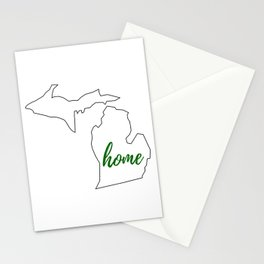 Michigan - Home - White Green Stationery Cards