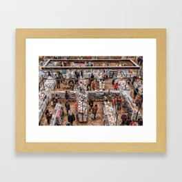 Shopping Labyrinth Framed Art Print