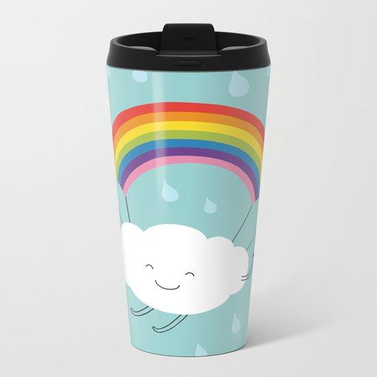 rainbow parachute Metal Travel Mug