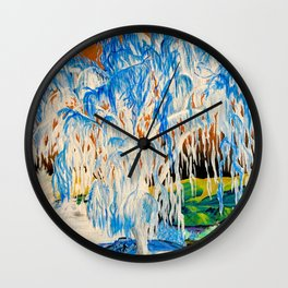 Nature in the Negative Wall Clock
