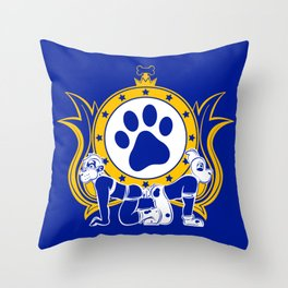 EuroDog (blue) Throw Pillow