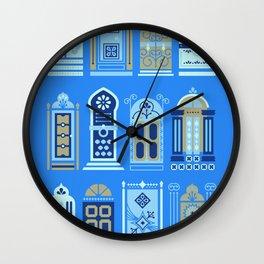 Moroccan Doors – Cornflower Blue Palette Wall Clock