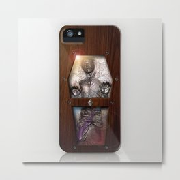 Carbonite prison inside the Wood Glass Coffin iPhone 4 4s 5 5c, ipod, ipad case, tshirt and mugs Metal Print