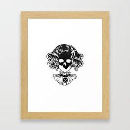 Skull Maiden - Blk Framed Art Print