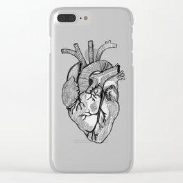 Croquis de cœur Clear iPhone Case