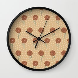 Lexi floral pattern Wall Clock